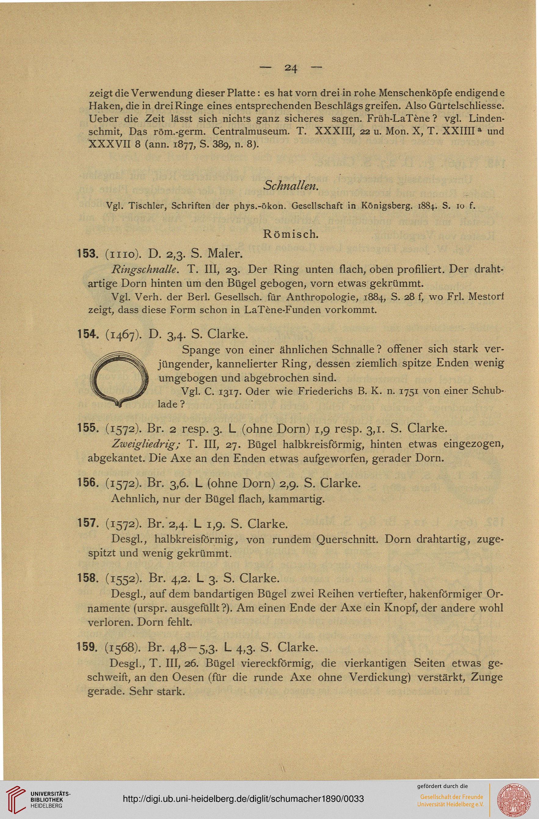 Schumacher, Karl: Beschreibung der Sammlung antiker Bronzen ...