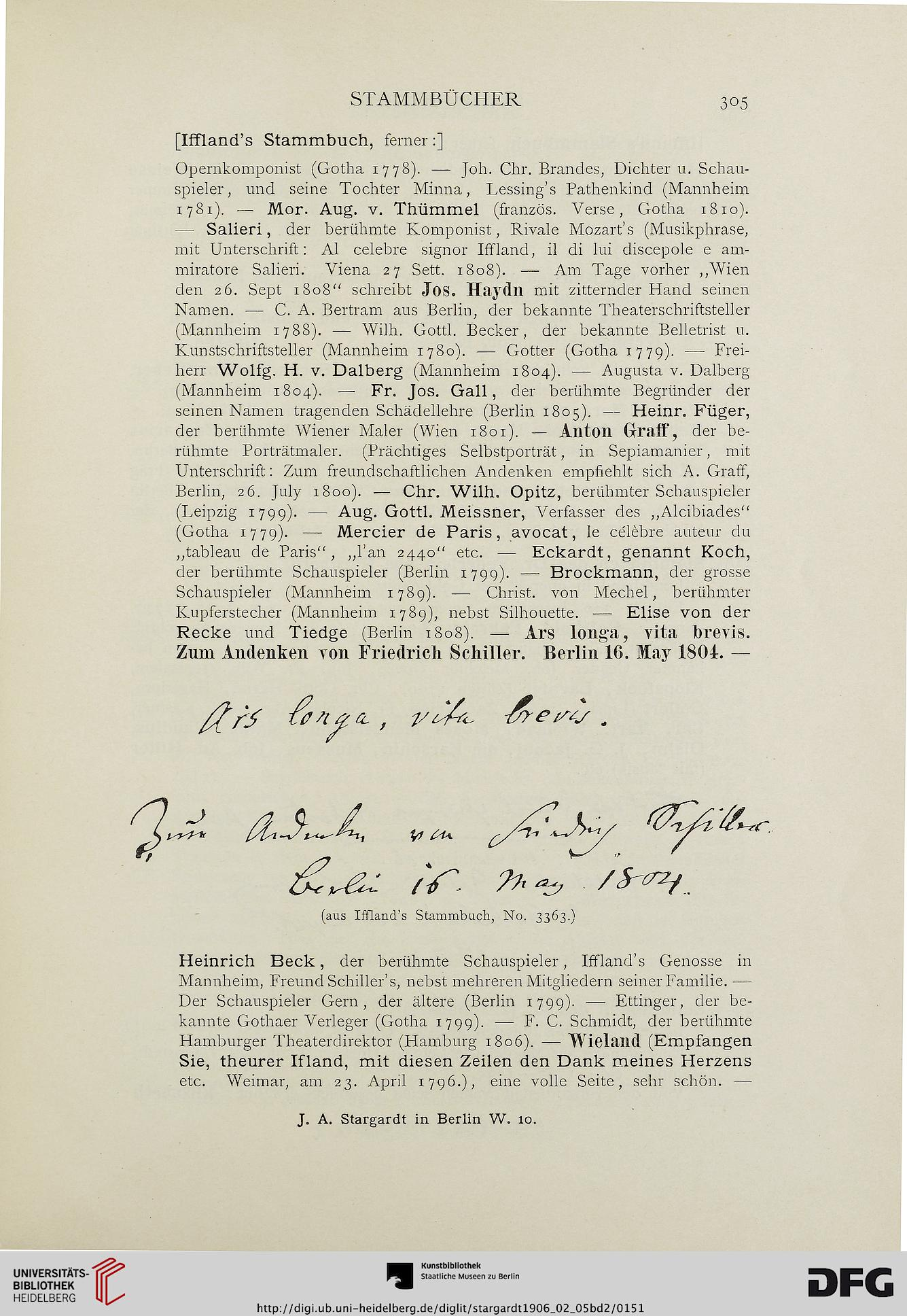 J A Stargardt Berlin Hrsg Die Autographen Sammlung Alexander