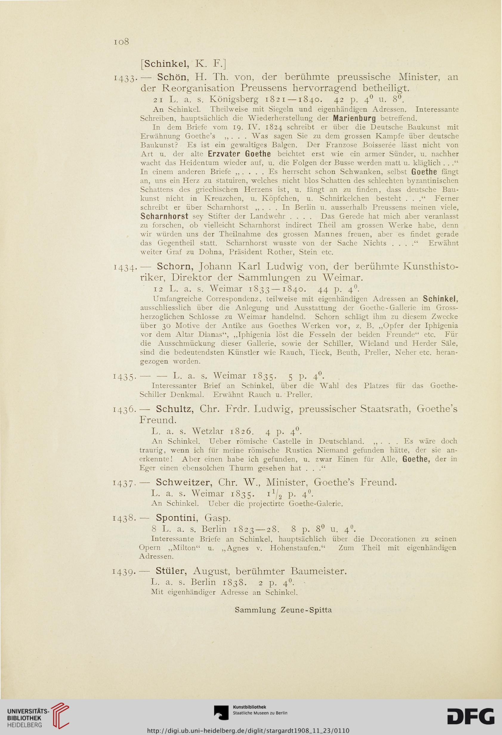 J A Stargardt Autographenhandlung Hrsg Sammlung Zeune