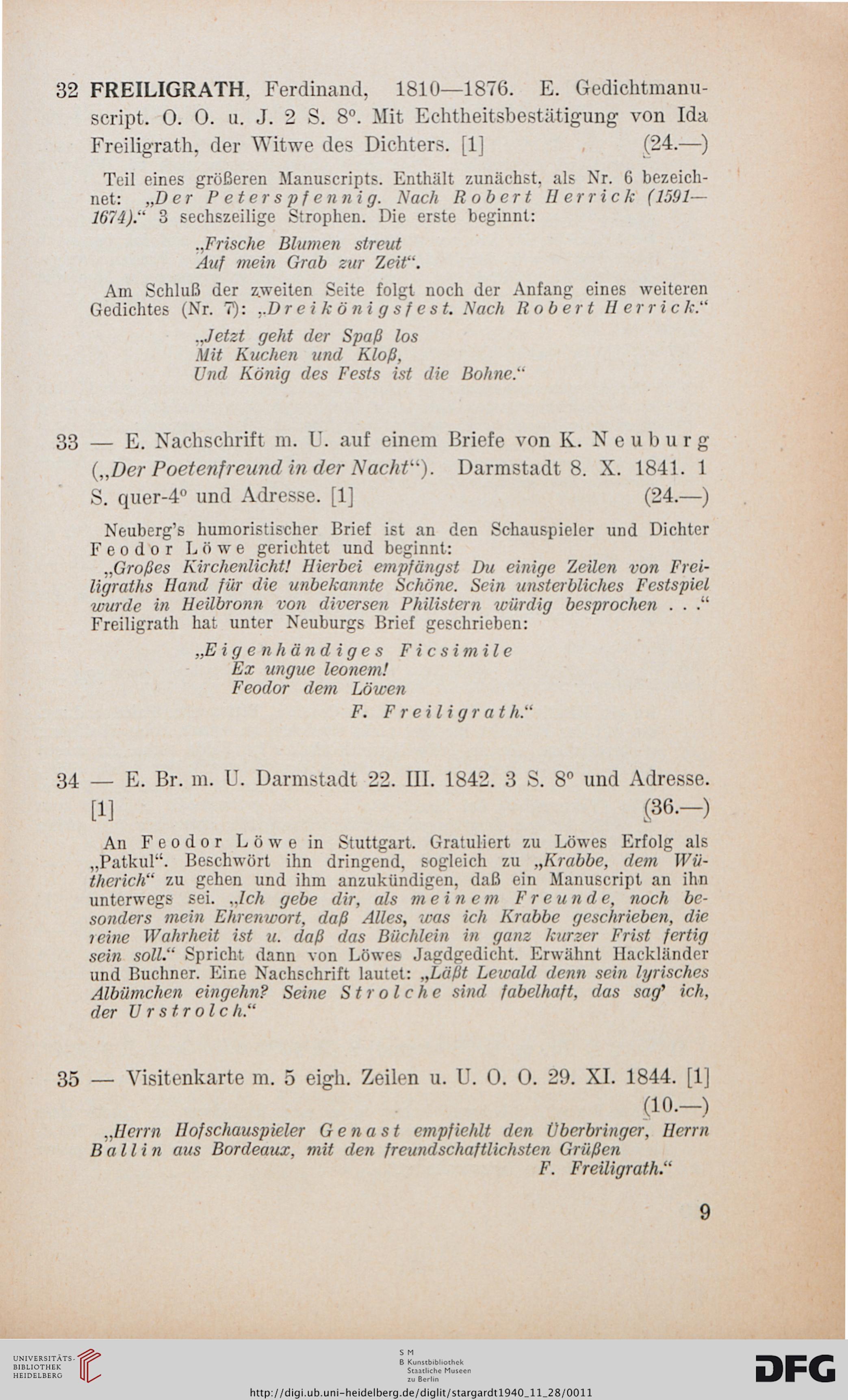 J A Stargardt Berlin Hrsg Autographen Und Einige