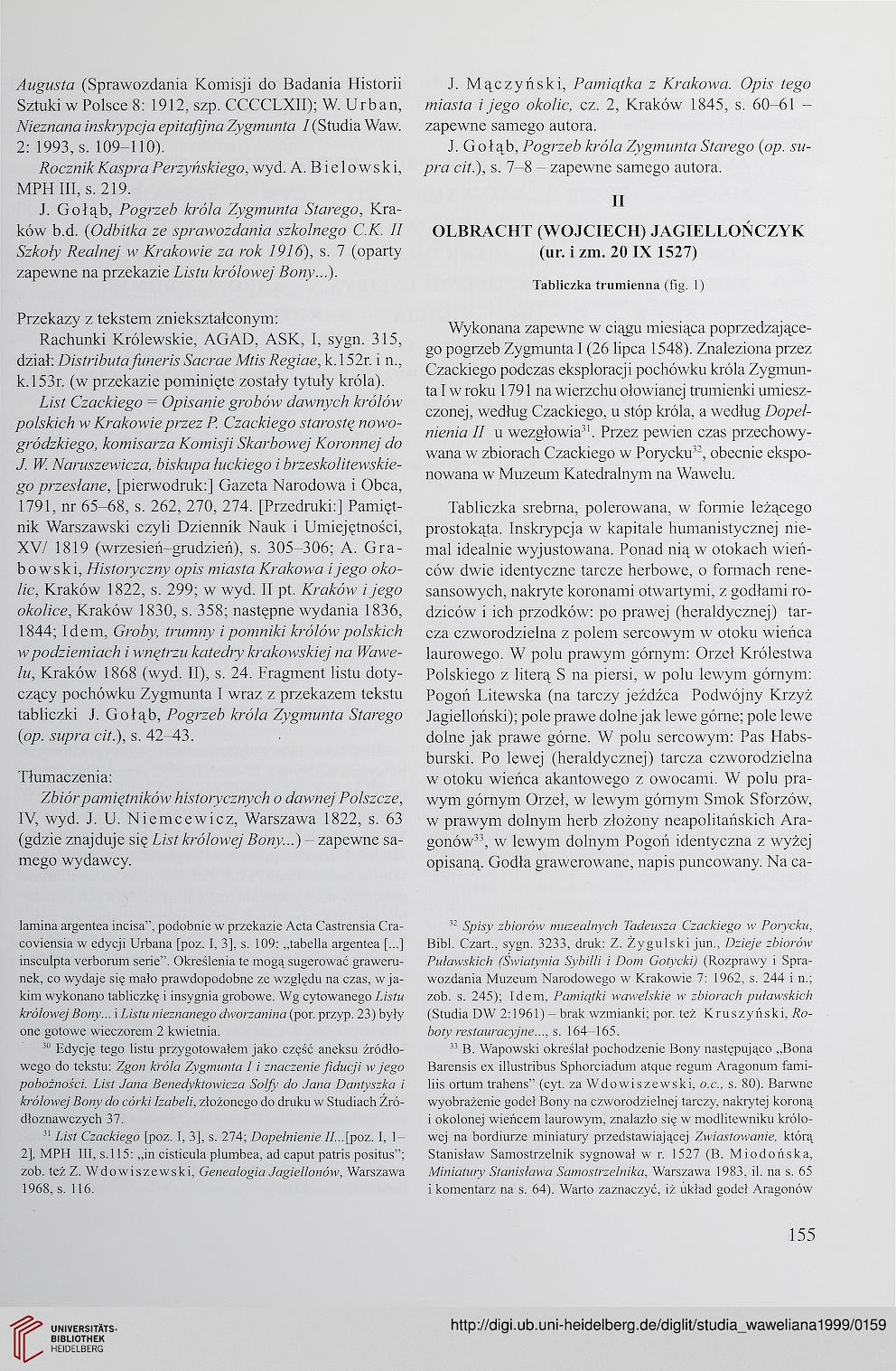 Studia Waweliana 81999