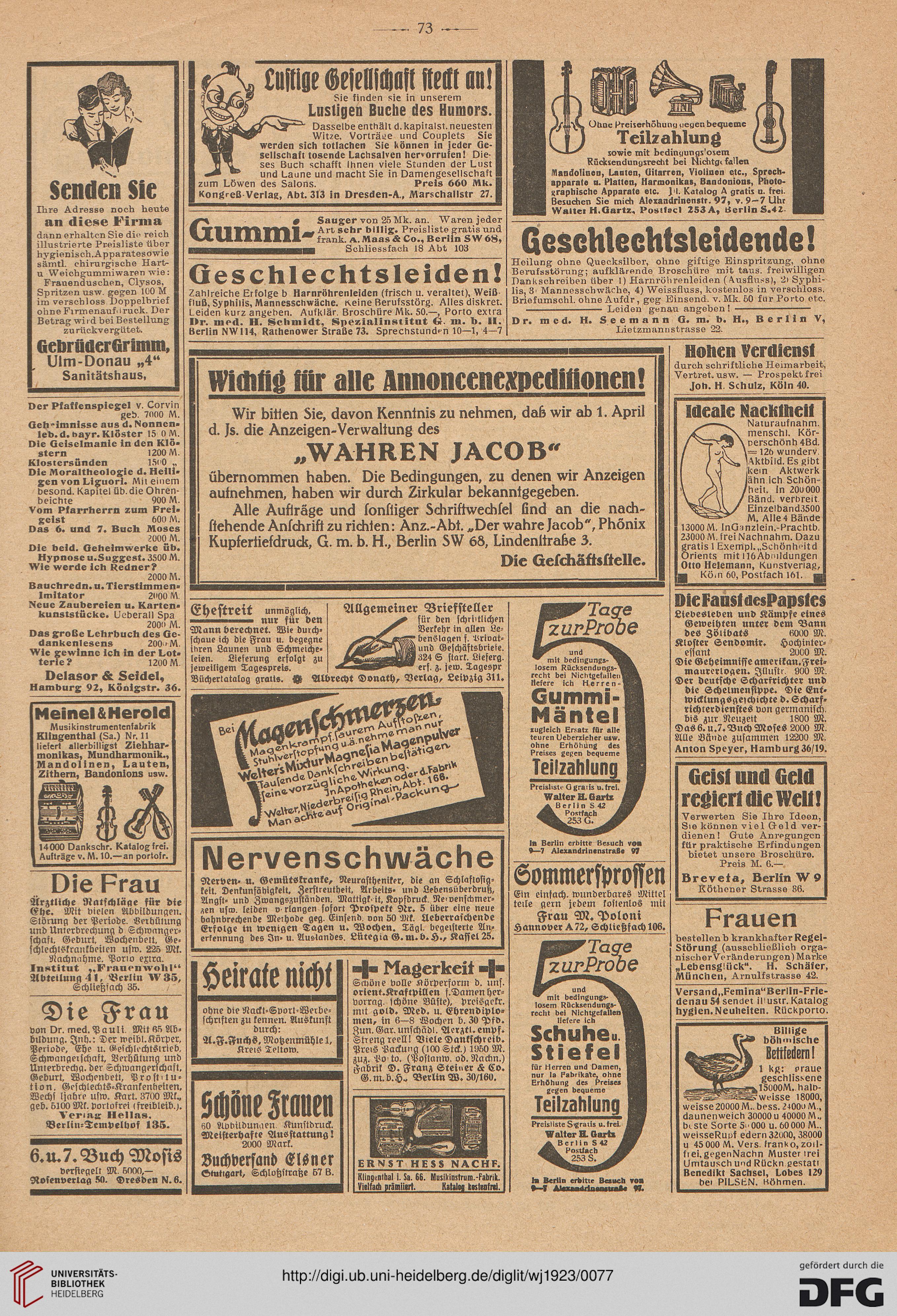 Der Wahre Jakob Illustrierte Zeitschrift Für Satire Humor Und
