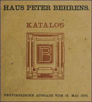 behrens peter hrsg haus peter behrens katalog darmstadt 1901. Black Bedroom Furniture Sets. Home Design Ideas