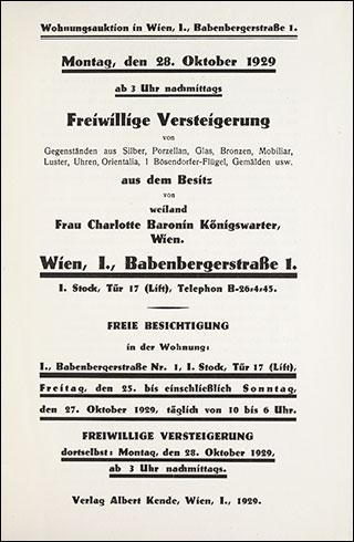 Auktionshaus Albert Kende Wien Hrsg Wohnungsauktion In Wien I